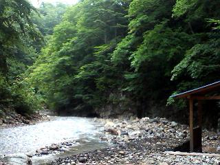 夏の夏油温泉。
