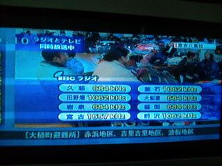 岩手沿岸避難所テレビ放映、2